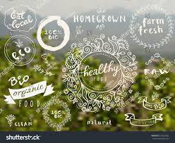 set 100 bio organic eco clean stock vector 313837652