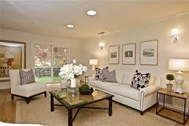 chic living room with cream sofa contemporary living room