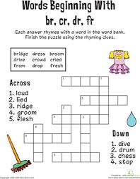 consonant crossword words beginning with br cr dr fr