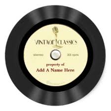 personalized record album vinyl record stickers zazzle