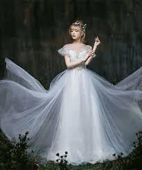 faerie wedding dresses 2017 wedding dress high neck a line tulle cap sleeves