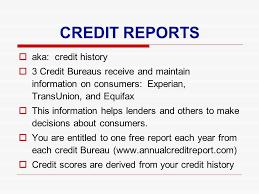 3 bureau report credit history scores credit reports aka credit history 3