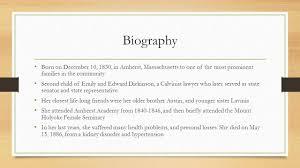 emily dickinson biography death emily dickinson by sakeenah tyebbhoy biography born on december 10