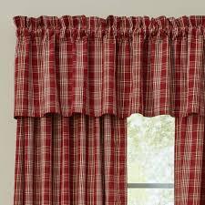 country style curtains barnside plaid valance 72