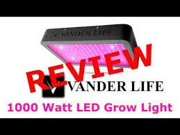 1000 watt led grow light reviews testing the vander life 1000 watt led grow light peppers stevia