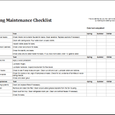Maintenance Checklist Template Excel Building Preventive Maintenance Checklist Template Archives