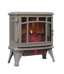 duraflame 8511 grey infrared electric fireplace stove with remote