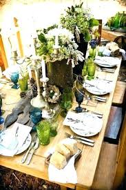 rustic dinner table settings dining table setting ideas furniture dinner table setting ideas