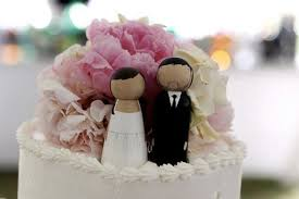 cake toppers the original custom peg doll wedding cake toppers
