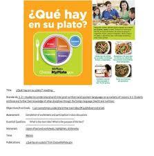 qué hay en su plato spanish close reading worksheets by mendy colbert