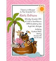 modern noah u0027s ark baby shower invitation zebra print