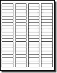 4 Per Sheet Label Template by Laser Frosty Matte Clear Labels 1 3 4 X 1 2 100 Sheets With 80