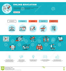design online education e learning education or training courses web design template stock