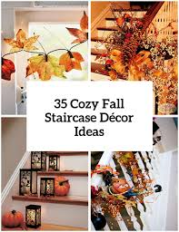 How To Decorate A Banister 35 Cozy Fall Staircase Décor Ideas Digsdigs