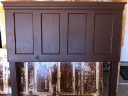 Headboard From Old Door by Queen Size 4 Panel Old Door Headboard Painted Espresso Brown By