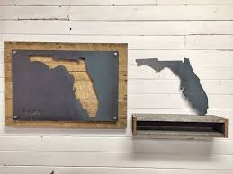 florida wood buy a handmade florida home state steel on reclaimed wood wall