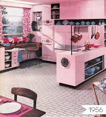 pink kitchen ideas everything is again pink kitchens then and now apartment
