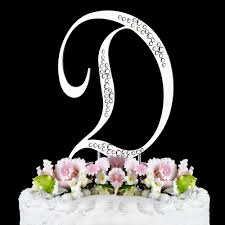 letter wedding cake toppers d sparkle silver wf monogram wedding cake toppers