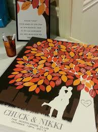 fall wedding guest book fall wedding wedding guest signatures on leaves on a tree
