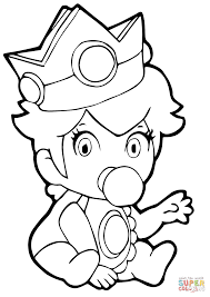 baby princess peach coloring page free printable coloring pages