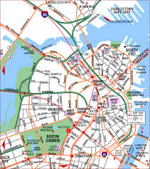 boston tourist map road map of central boston boston massachusetts aaccessmaps com