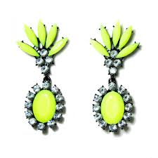 statement earrings crown neon marquise drop statement earrings