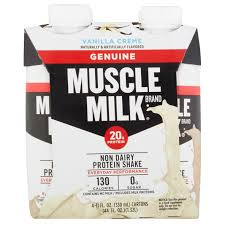 100 calorie muscle milk light vanilla crème muscle milk coffee house variety non dairy protein shake 11 fl oz