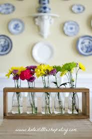 wooden milk bottle table centerpiece country home decor