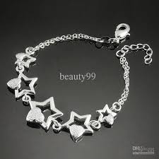 star silver bracelet images 2018 2013 romantic 925 silver chain and link bracelet hollow star jpg