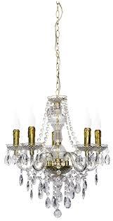 Wohnzimmerlampe 5 Flammig Reality Leuchten Kronleuchter Lüster 5 Flammig Aus Klarem Acryl