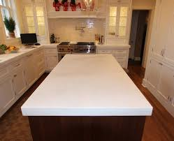 kitchen island countertop with light colored granite light