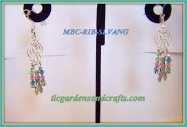 Wire Chandelier Earrings 1 Silver Wire Angel Chandelier Earring With Metavivor Ribbon U0026 Mbc