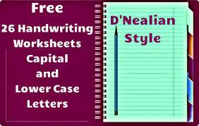 d nealian cursive handwriting worksheets worksheets