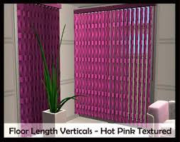 Pink Vertical Blinds Mod The Sims Testers Wanted Recolour Vertical Blinds