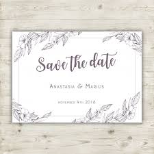 save the date cards free floral save the date card vector free