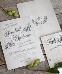rustic chic wedding invitations rustic chic wedding invitation suite the elli