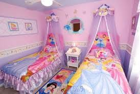 disney princess bedroom with twin bed design for small room