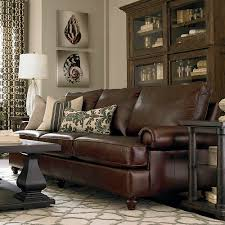 custom leather montague great room sofa
