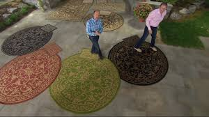 Qvc Outdoor Rugs Veranda Living Indoor Outdoor Reversible Scroll Rug With Bonus
