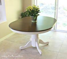 Redo Kitchen Table by 90s Oak Table Makeover Kitchens And Paint Furniture