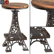 3d eiffel tower bar stool cgtrader