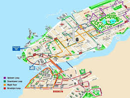 New York City Map With Attractions by Hop On Hop Off New York Map New York Map
