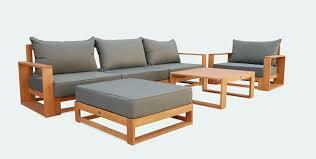 canapé en bois salon de jardin canapé d angle nouveau awesome salon de jardin bois