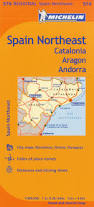 Maps Spain by Michelin Spain Northeast Catalonia Aragon Andorra Map 574