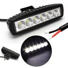 led backup light bar 2pcs 6 inch 18w led work light 12v flood spot beam led light bar