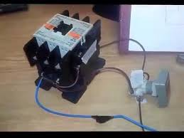 how to control single magnetic contactor with push button youtube