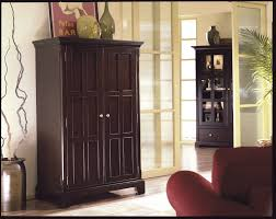 Riverside Computer Armoire Computer Armoire For Your Compact Home Office Brown Computer