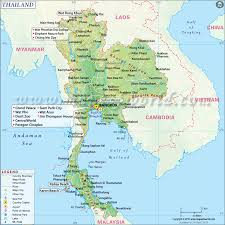 Time Zone Map For Usa Physical Map Of Thailand