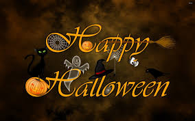 halloween night wallpaper trick or treat witch and pumpkins happy halloween night