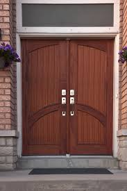 exterior entrancing schemes of modern double entry doors for